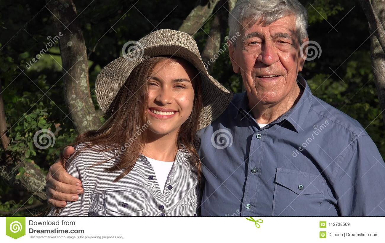 old guy small girl